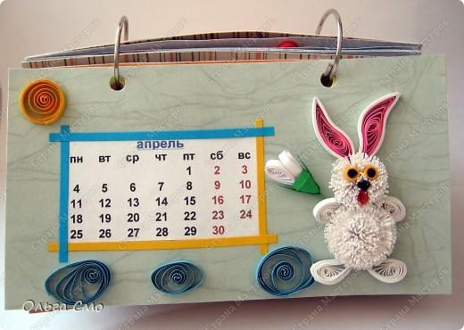 Уже давно задумала сделать календарь - и вот моя мечта осуществилась! Первая страничка - Январь. фото 4