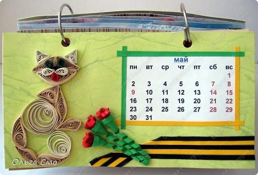 Уже давно задумала сделать календарь - и вот моя мечта осуществилась! Первая страничка - Январь. фото 5