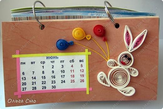 Уже давно задумала сделать календарь - и вот моя мечта осуществилась! Первая страничка - Январь. фото 6