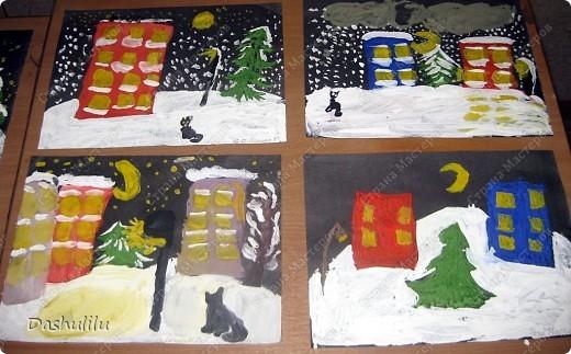 """Коллективная работа """"Наша ёлочка"""" Идея взята у Козловой Светланы Николаевны, учителя ИЗО  фото 3"""