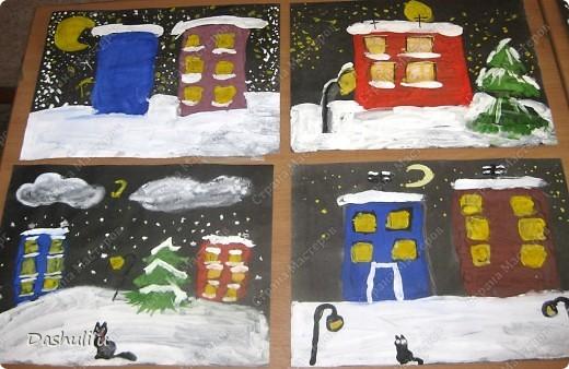 """Коллективная работа """"Наша ёлочка"""" Идея взята у Козловой Светланы Николаевны, учителя ИЗО  фото 4"""