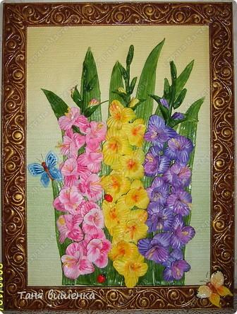 вот они мои новые гладиолусы,свои первые я лепила очень давно,только они были в холодном цвете,а эти напоминают лето... фото 4