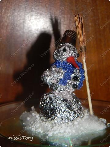 Вот такого снеговичка Луиза смастерила на занятии в художественной школе фото 3