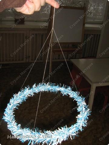 Мастер-класс Новый год Бумагопластика Вот такие ангелочки Бумага Клей Нитки Проволока фото 15