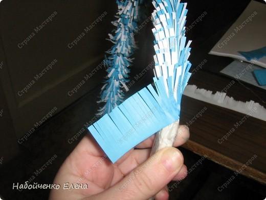Мастер-класс Новый год Бумагопластика Вот такие ангелочки Бумага Клей Нитки Проволока фото 12