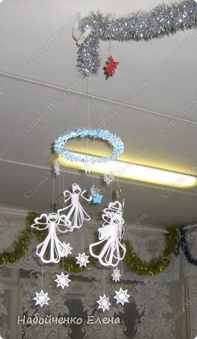 Мастер-класс Новый год Бумагопластика Вот такие ангелочки Бумага Клей Нитки Проволока фото 19