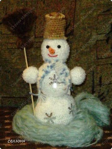 Вот такой снеговик связала я на конкурс. фото 1