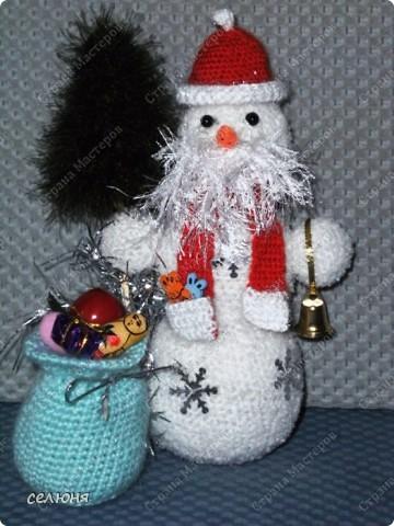 Вот такой снеговик связала я на конкурс. фото 6
