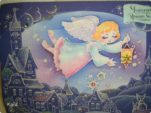 Вот и я похвастаюсь своими подарочками!!! Я прямо летаю как на крыльях, девочки , дорогие, Наташенька, Танюшка, Тамарочка, вы меня прямо заряжаете позитивом!!!!! Спасибо вам ОГРОМНОЕЕЕЕЕЕЕ!!!!!!!!!!!!!!!!!!!!!!!! Это вот чудесная великолепная, потрясающая открытка от Натали, я ее получила уже давненько, но все не могла сфотографировать и выложить. Вот , слава Богу,собралась. Девочки, вы посто не представляете какая же она красивая , как приятно ее держать в руках и разглядывать!!!! Я ношусь с ней уже вторую неделю, постоянно хватаю в руки и рассматриваю!!! Я была горячей поклонницей Наташиного творчества, а теперь я просто ее ФАНАТ, самый БОЛЬШОЙ!!!!! фото 2