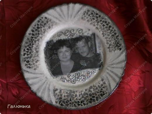 Вот такую тарелочку сделала.на фото как то не очень,а в жизни прикольная.