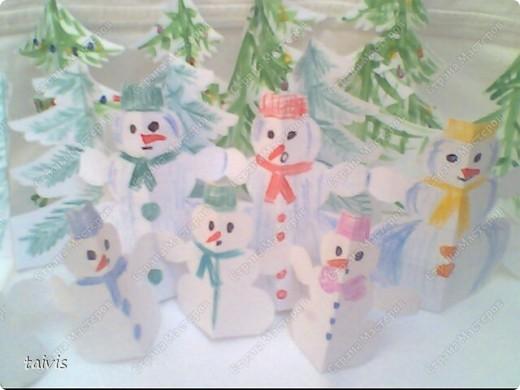 Снеговички в лесу. фото 1