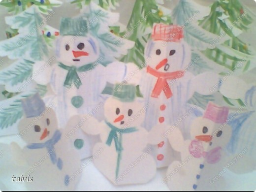 Снеговички в лесу. фото 2