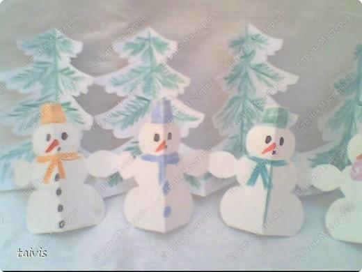 Снеговички в лесу. фото 8