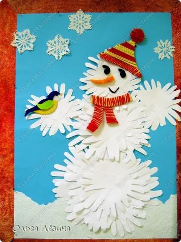 Вот такой снеговичок-добрячок появился у нас к Новому Году фото 1
