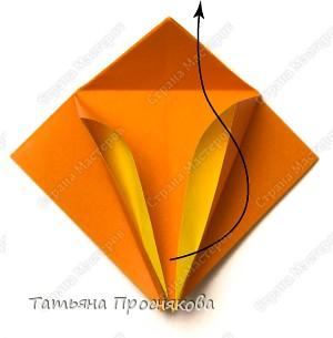 Возьми квадрат бумаги. Согни его пополам и разогни в обоих направлениях. фото 6
