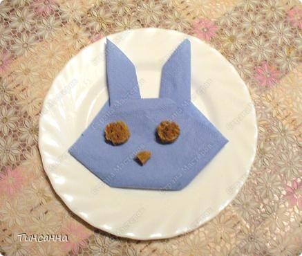 Кот и кролик/зайчик из бумажных салфеток фото 3