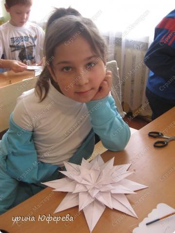 Снежинка-открытка (повторюшка) фото 3