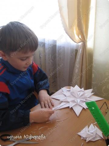 Снежинка-открытка (повторюшка) фото 5