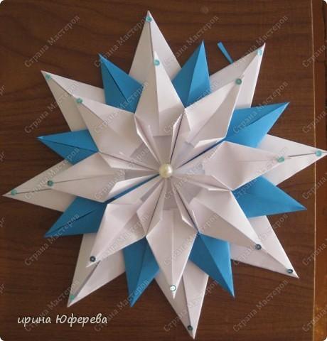 Снежинка-открытка (повторюшка) фото 1