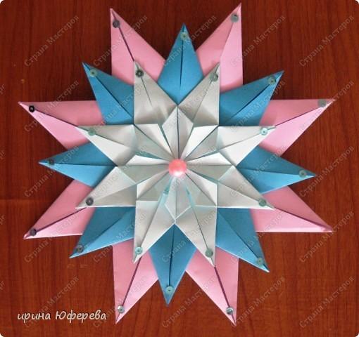 Снежинка-открытка (повторюшка) фото 2