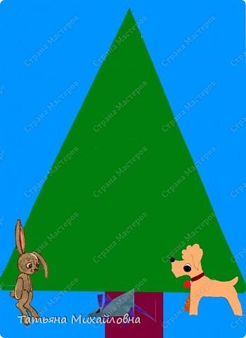 Если малыш не умеет держать ножницы, не беда! Украшать елочку  все равно будем - Зайчонок, Мышонок и Дружок уже проснулись и ждут. фото 2