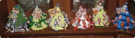 Конфетные елочки (уже подарены). фото 2