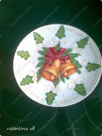 Тарелка с новогодними мотивами