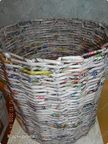 Моя первая проба в технике плетения из газет фото 3