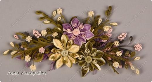 Объемная цветочная композиция, подойдет для поздравления в рамочке.