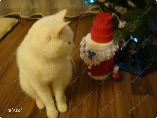 Поздравляю всех с праздниками! Вот такой Дед Мороз появился у нас. фото 8