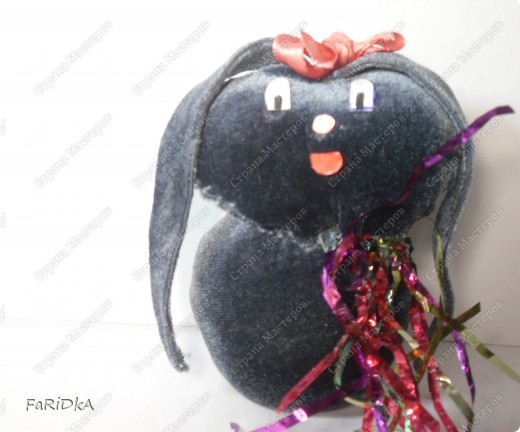 Игрушечный  зайчонок фото 1