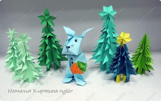 Символ года в новогоднем лесу. 4 класс фото 1