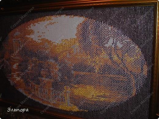"""Картина вышитая бисером""""Букет"""".Выполнена в  технике монастырского шитья.Небольшая 36х35 см. фото 6"""