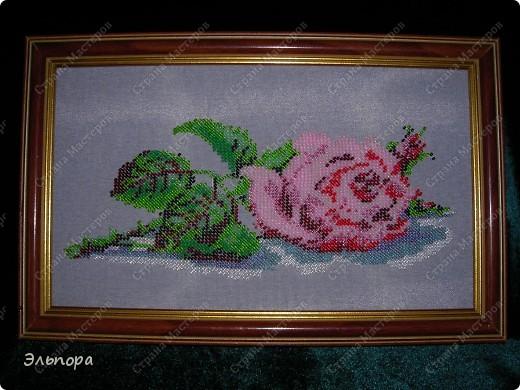 """Картина вышитая бисером""""Букет"""".Выполнена в  технике монастырского шитья.Небольшая 36х35 см. фото 5"""