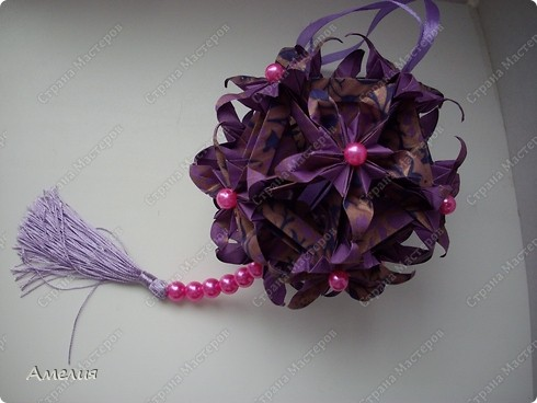 Кусудама Spides floral фото 3