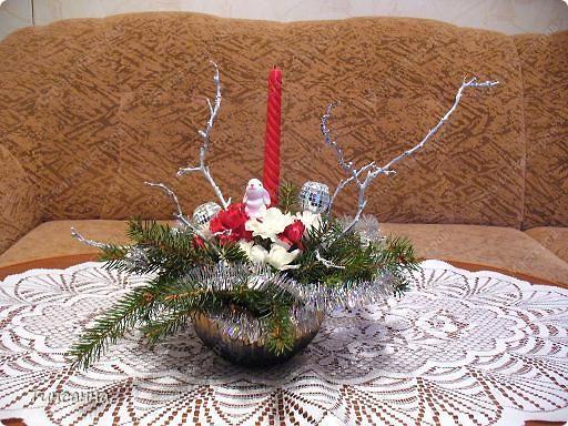 Такие, уже  лопнувшие почки, появились на ветках, использованных в новогодней композиции. фото 2