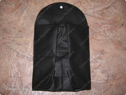 Решил поделиться интересной идеей. Совершенно случайно купил хозяйственную сумку трансформер. Её размер в сложенном виде всего 10*20 см. Очень простая в исполнении. Всё дело в хитро пристроченном кармане. Смотрите фото. Потом я сам сшил такую для пекника. (фото в конце). фото 3