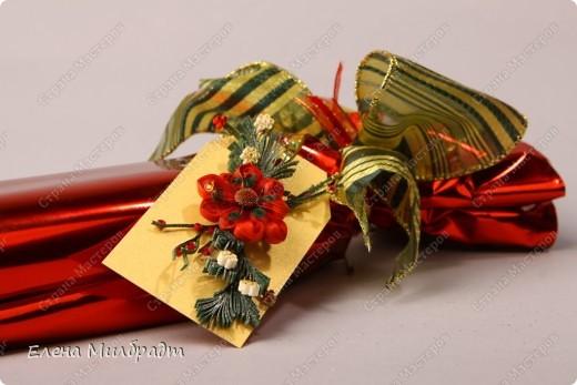 Украшение новогоднего подарка фото 1