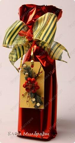 Украшение новогоднего подарка фото 3
