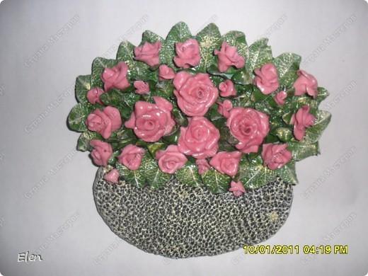 Основа панно гипсовая,цветочки соленое тесто фото 3