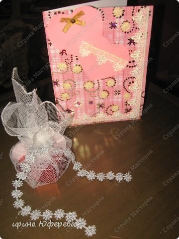 Сердечко (коробочка) и открытка фото 5