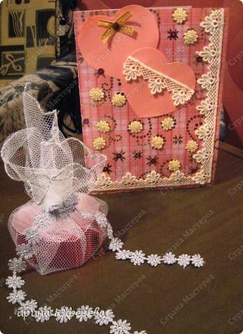 Сердечко (коробочка) и открытка фото 1