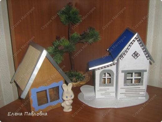 Поделка домик из коробка