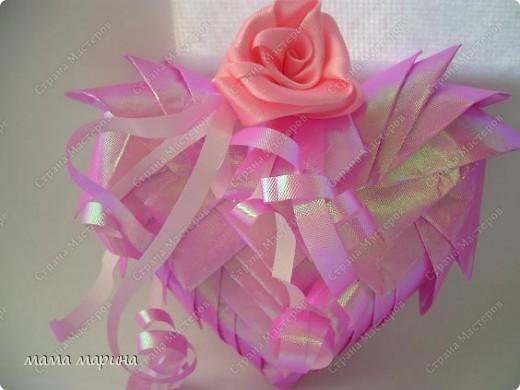 Вот такую валентинку сделала из упаковочной бумаги основа пенопласт фото 1