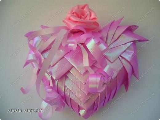 Вот такую валентинку сделала из упаковочной бумаги основа пенопласт фото 2