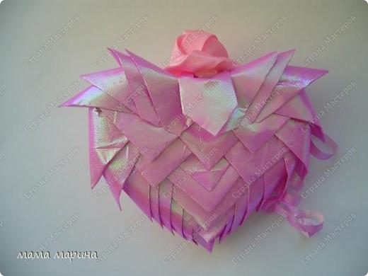 Вот такую валентинку сделала из упаковочной бумаги основа пенопласт фото 3