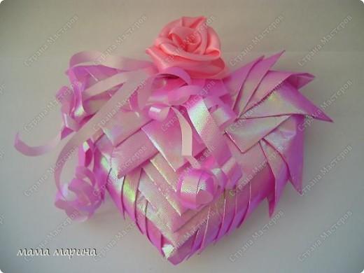 Вот такую валентинку сделала из упаковочной бумаги основа пенопласт фото 4