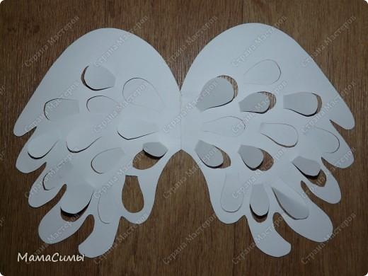 Костюм из бумаги. Веночек и крылья. фото 8