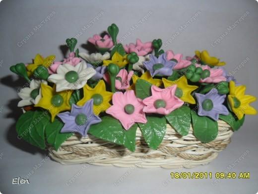 весение цветочки в маленьких корзинках покупных фото 2
