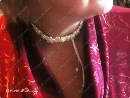 Вязанные крючком бусы из бисера фото 7